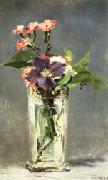 Edouard Manet Carnations and Clematis in a Crystal Vase oil painting picture wholesale