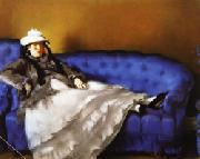 Edouard Manet Portrait of Mme Manet on a Blue Sofa oil painting picture wholesale