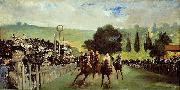 Edouard Manet Course De Chevaux A Longchamp oil painting reproduction