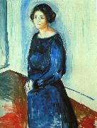 Edvard Munch Woman in Blue oil painting picture wholesale
