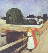 Edvard Munch The Girls on the Bridge oil painting picture wholesale