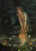 Edward Robert Hughes Midsummer Eve oil painting