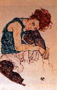 Egon Schiele Seated Woman with Bent Knee oil painting picture wholesale