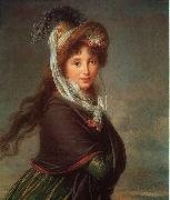 Elisabeth LouiseVigee Lebrun Portrait of a Young Woman-p oil painting