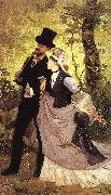 Ernest Duez Honeymoon oil painting artist
