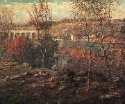 Ernest Lawson Harlem River oil painting