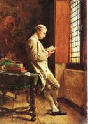 Ernest Meissonier The Reader in White oil painting picture wholesale