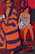 Ernst Ludwig Kirchner Self Portrait with Model oil painting picture wholesale