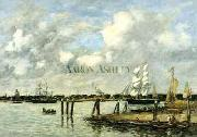 Eugene Boudin Lameuse a Rotterdam oil painting
