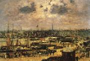 Eugene Buland The Port of Bordeaux oil painting