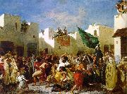Eugene Delacroix The Fanatics of Tangier oil painting picture wholesale