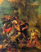 Eugene Delacroix The Abduction of Rebecca oil painting picture wholesale
