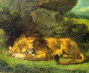 Eugene Delacroix Lion with a Rabbit China oil painting reproduction