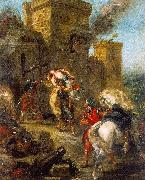 Eugene Delacroix The Abduction of Rebecca_3 China oil painting reproduction