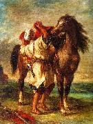 Eugene Delacroix Arab Saddling his Horse oil painting picture wholesale