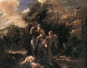 FETI, Domenico Flight to Egypt dfgs oil painting
