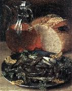 FLEGEL, Georg Still-life with Fish dfgw oil painting picture wholesale