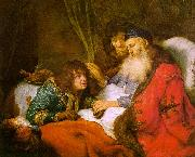FLINCK, Govert Teunisz. Isaac Blessing Jacob dfg oil painting picture wholesale