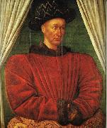 FOUQUET, Jean Portrait of Charles VII of France dg oil painting picture wholesale