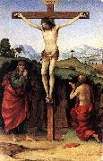 FRANCIA, Francesco Crucifixion with Sts John and Jerome dfh oil painting picture wholesale