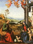 Fra Bartolommeo The Holy Family with the Infant St. John in a Landscape oil painting picture wholesale