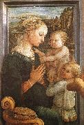 Fra Filippo Lippi Madonna and Child with Two Angels oil painting