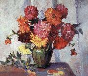 Frances Hudson Storrs Dahlias oil painting picture wholesale