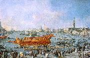Francesco Guardi The Bucentaur Departs for the Lido on Ascension Day oil painting picture wholesale