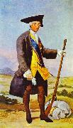 Francisco Jose de Goya Charles III in Hunting Costume oil painting reproduction