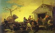 Francisco Jose de Goya Fight at Cock Inn oil painting