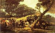 Francisco Jose de Goya Powder Factory in the Sierra. oil painting on canvas
