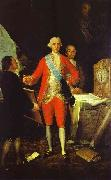 Francisco Jose de Goya Francisco de Goya the Count of Floridablanca and Goya. oil painting on canvas