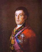 Francisco Jose de Goya Portrait of the Duke of Wellington. oil painting reproduction