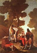 Francisco de Goya The Maja and the Masked Men oil painting