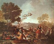 Francisco de Goya Picnic on the Banks of the Manzanares oil painting