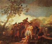 Francisco de Goya Blind Man Playing the Guitar oil painting