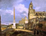 Francois-Marius Granet The Church of Trinita dei Monti in Rome oil painting picture wholesale
