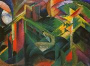 Franz Marc Deer in a Monastery Garden oil painting