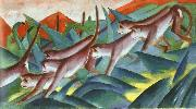 Franz Marc Monkey Frieze oil painting
