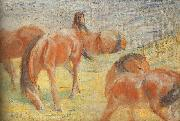 Franz Marc Grazing Horses I oil painting