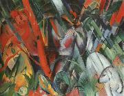 Franz Marc In the Rain oil painting