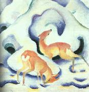 Franz Marc Deer in the Snow oil painting
