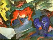 Franz Marc Red and Blue Horse oil painting