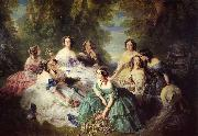 Franz Xaver Winterhalter The Empress Eugenie Surrounded by her Ladies in Waiting oil painting