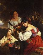 Franz Xaver Winterhalter Roman Genre Scene oil painting picture wholesale