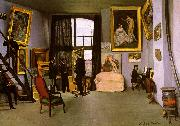 Frederic Bazille The Artist's Studio on the Rue de la Condamine oil painting