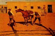 Frederick Remington His First Lesson oil painting picture wholesale