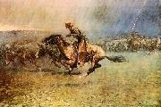 Frederick Remington The Stampede oil painting picture wholesale