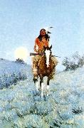 Frederick Remington The Outlier oil painting