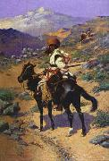 Frederick Remington Indian Trapper oil painting